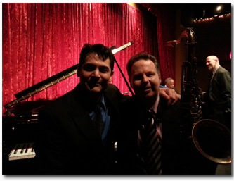 About to start the second set: Pianist Tony Pacini and saxophonist Harry Allen
