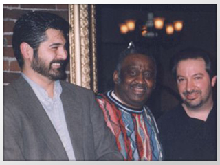 Photo of Tony Pacini with Bernard Purdie and Phil Baker