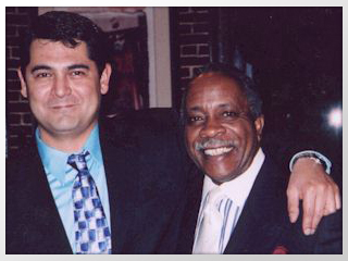 Photo of Tony Pacini with Mel Brown
