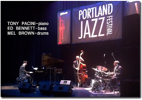The Tony Pacini Trio Performs At The 2012 PDX Jazz Festival.